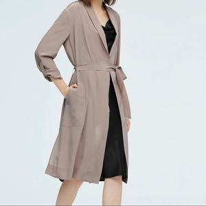 Babaton flowy trench coat taupe